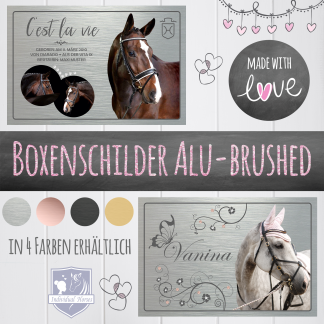 Boxenschilder Alu-brushed